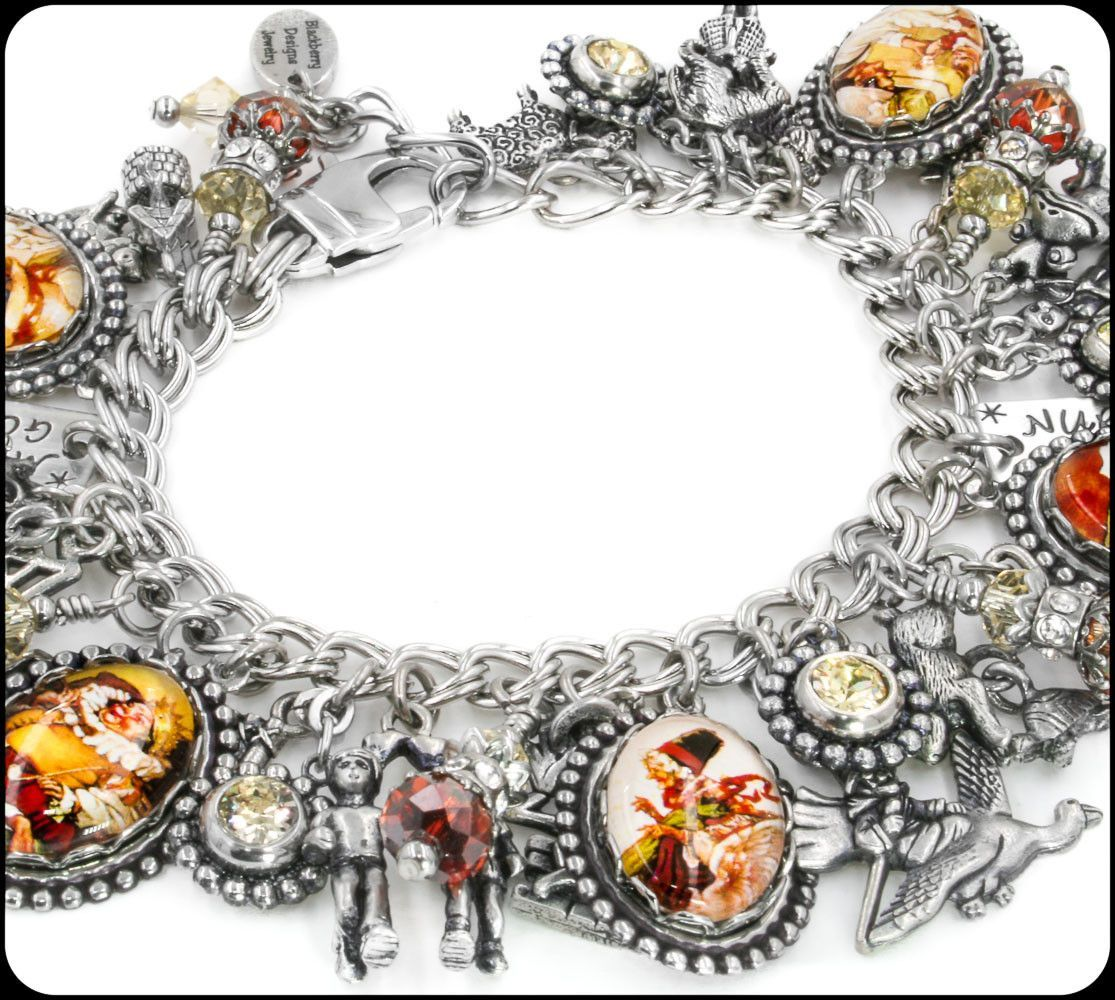 Mother Goose Charm Bracelet Nursery Rhymes