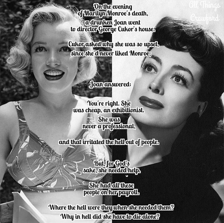 Image result for marilyn monroe and joan crawford