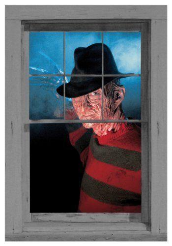 WOWindow Posters Freddy\u0027s Ready Life-Like Freddy Kreuger Halloween - halloween window decorations