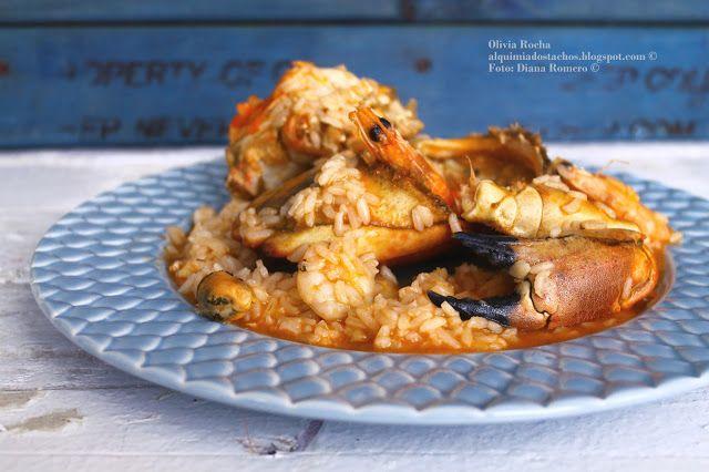 Arroz de Marisco com Sapateira   Seafood rice  Translation available on page