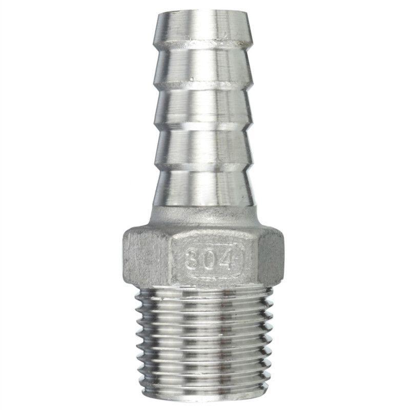 Npt Stainless Steel Connector External Thread Barb Hose Nozzle Hose Measurement 1 2 Inch X 15mm Hose Nozzle Nozzles Nozzle