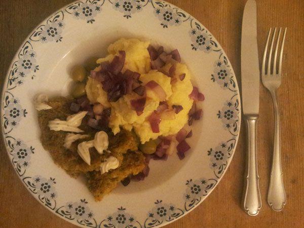 Currybratlinge mit Kartoffelbrei zum #Abendbrot.