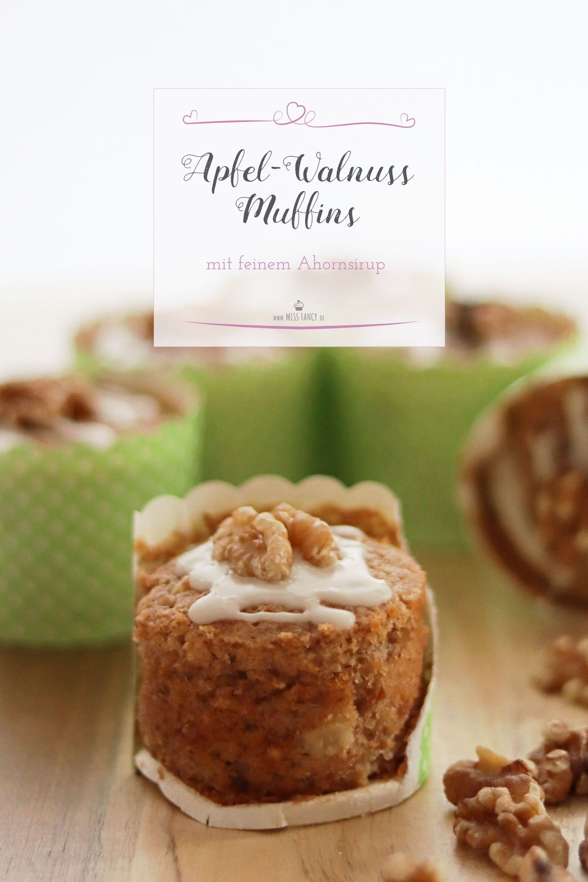 Apfel-Walnuss-Muffins mit Ahornsirup #hawaiianfoodrecipes