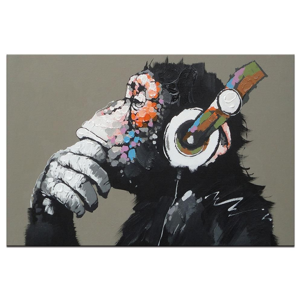 HEADPHONES NOTES FUNKY QUALITY CANVAS PRINT ART READY TO HANG