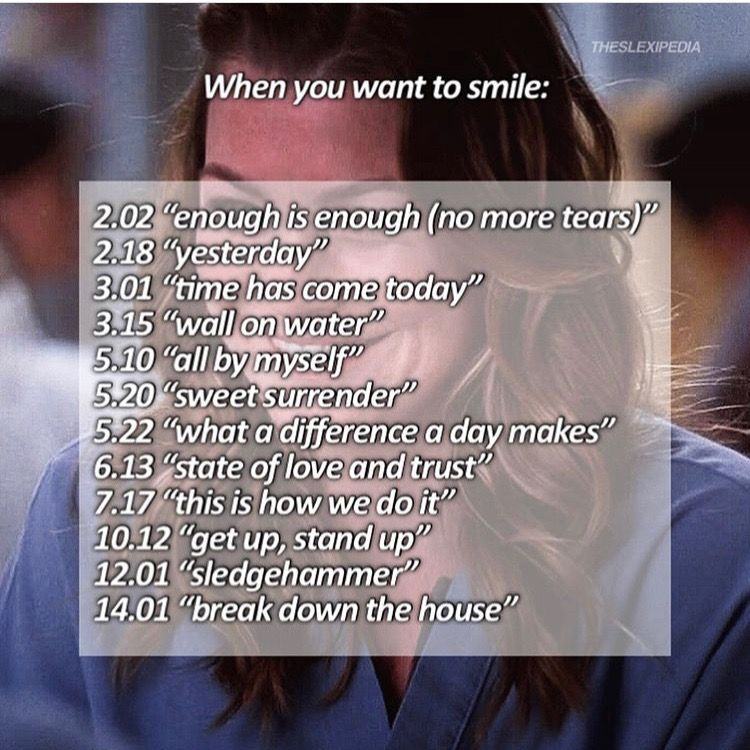 Episodes To Watch When You Want To Smile Greys Anatomy In 2019