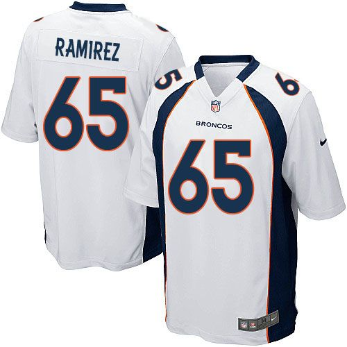 mens nike denver broncos customized 2013 white limited jersey