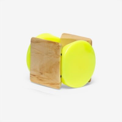 Kate Spade Saturday – Big Shapes Bracelet in Natural/Neon Lime