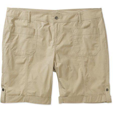 26411bb8e75 Faded Glory Women s Plus-Size Convertible Twill Shorts