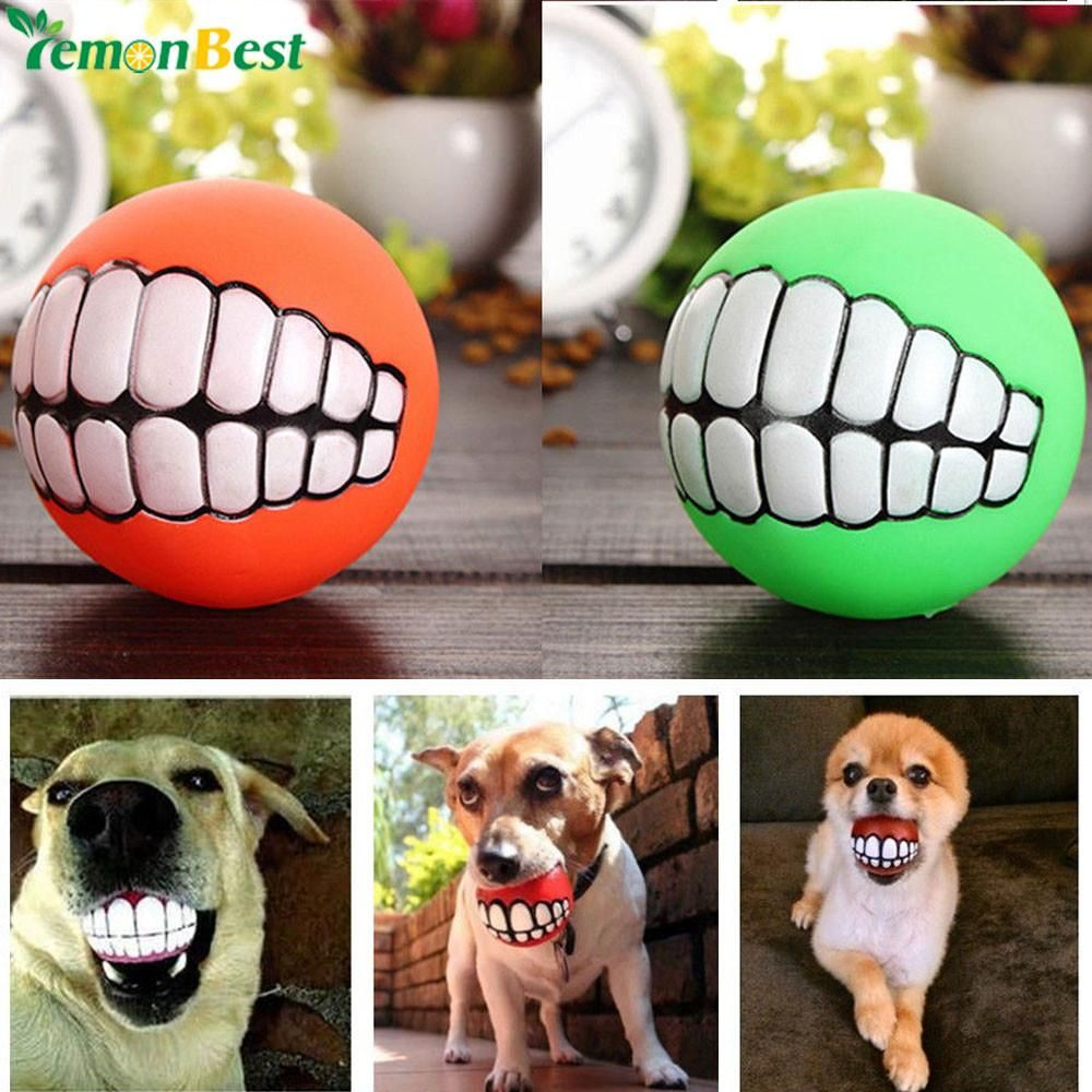 Pet Ball Toys Squeaker Squeaky Sound Ball Funny Dog Toys Toy