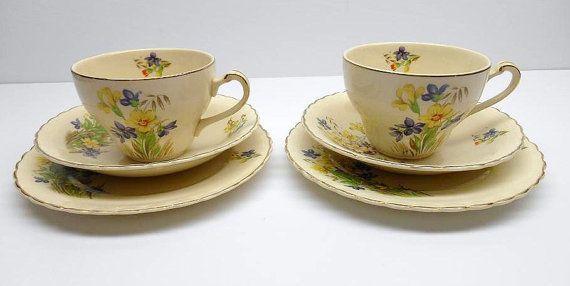 Meakin Vintage tazas platillos Meakin desierto por RicsRelics