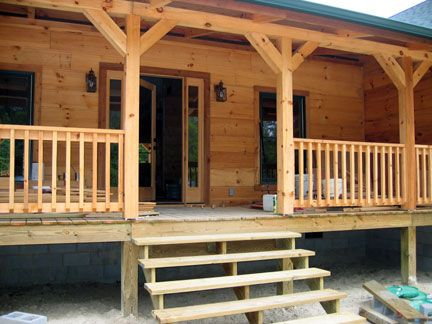 Best Cedar Beam Porch Front Porch Railings And Steps Going 400 x 300
