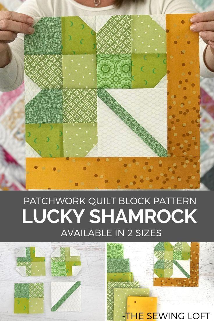 Lucky Shamrock Quilt Block
