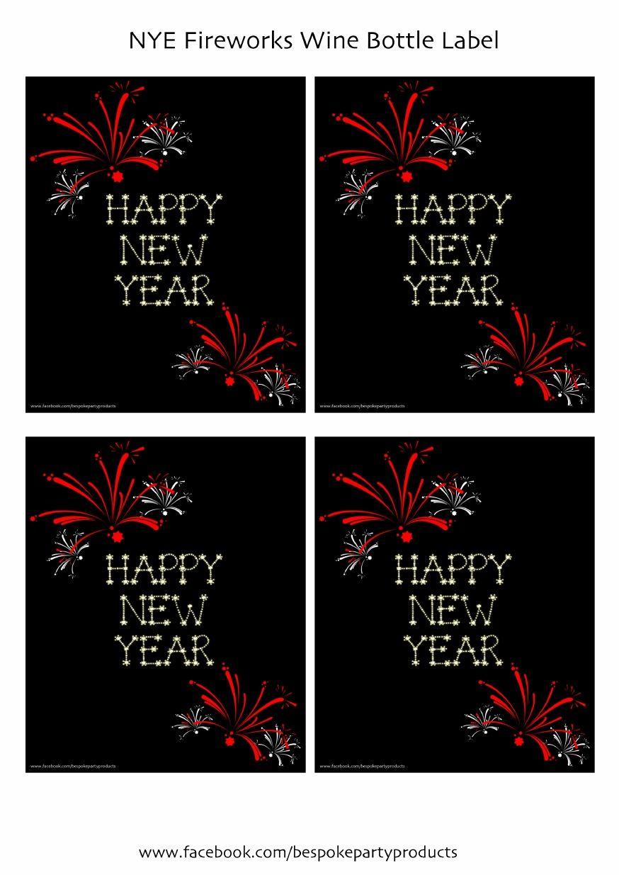 a nye fireworks wine bottle tags and others