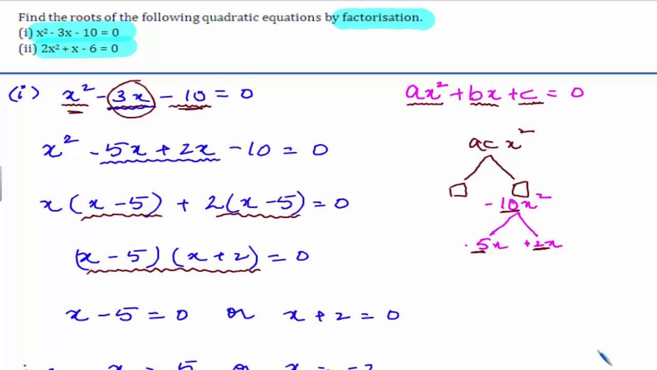 Cbse class 10 maths ncert solutions quadratic