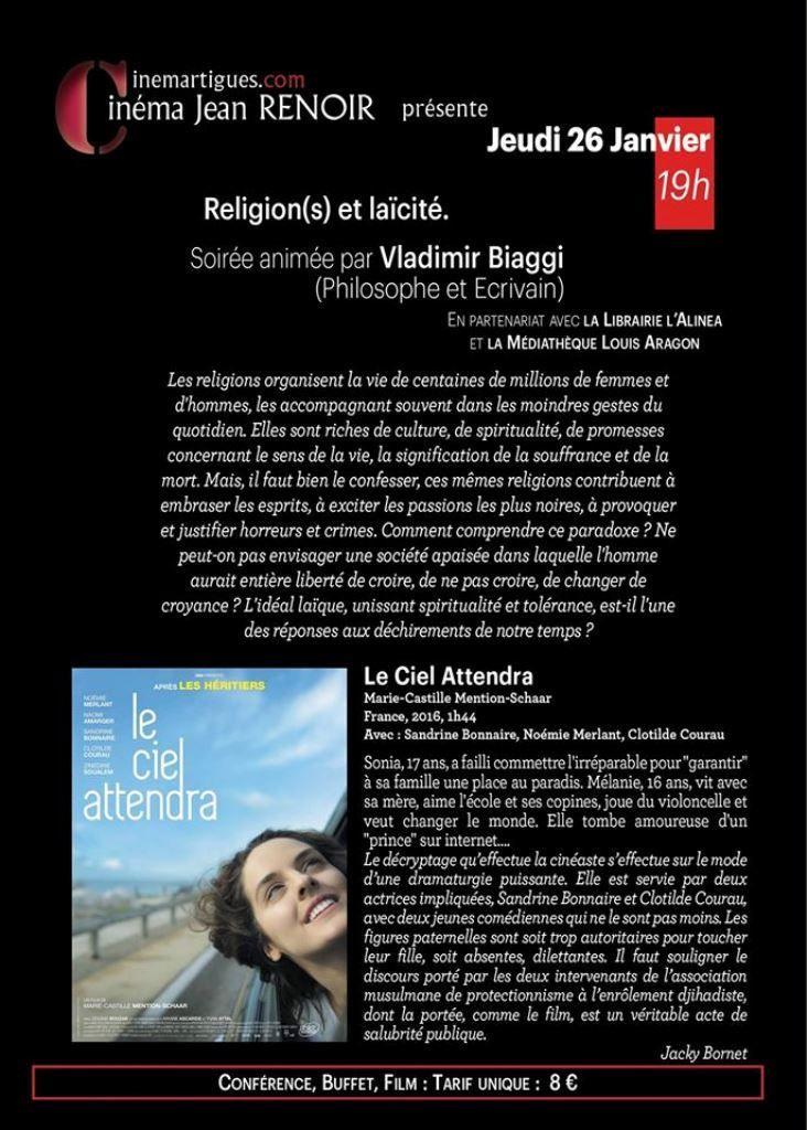 RELIGION(S) ET LAICITE : UNE SOIREE AU RENOIR