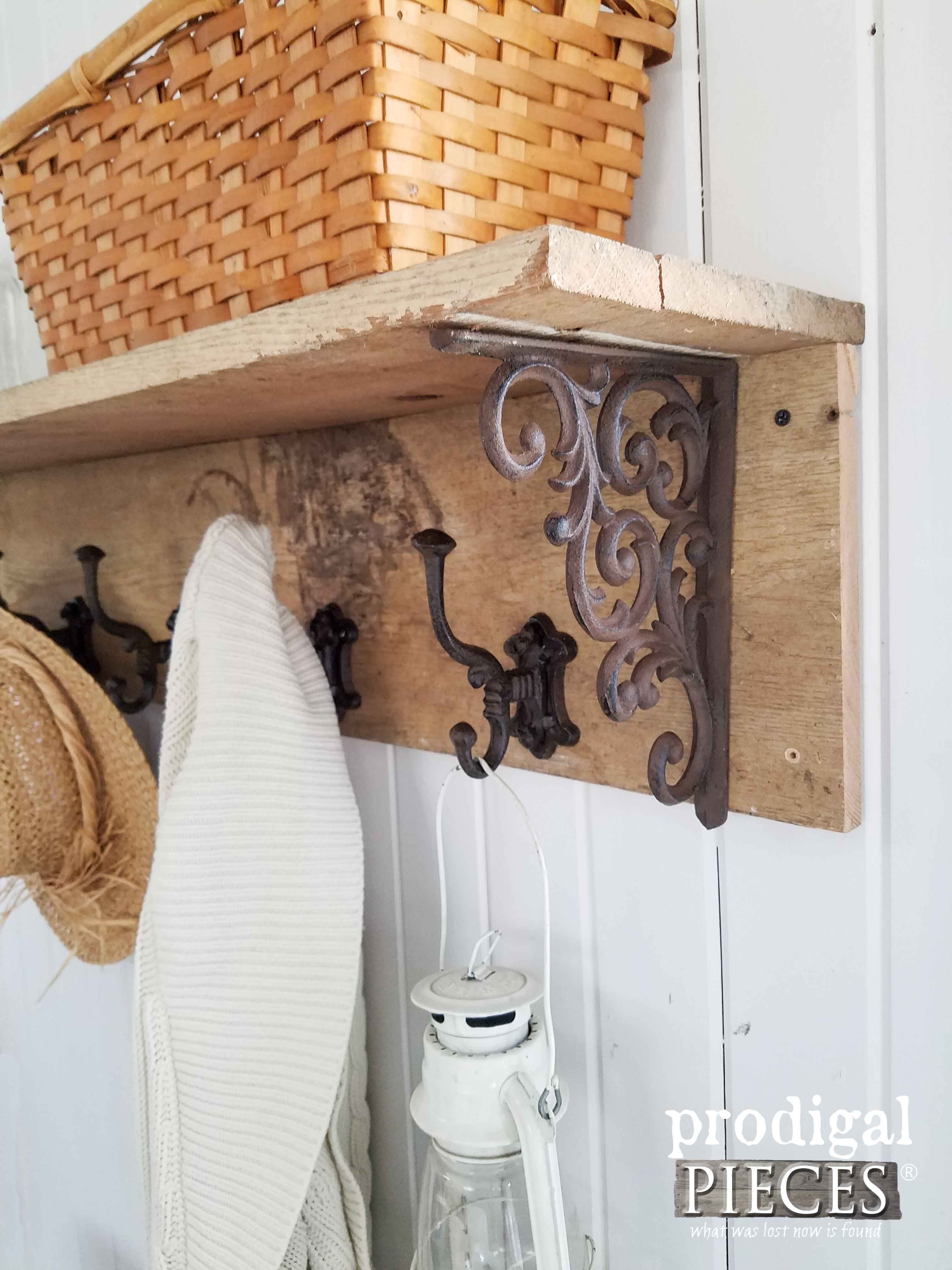 Country Farmhouse Style Coat Rack Tutorial by