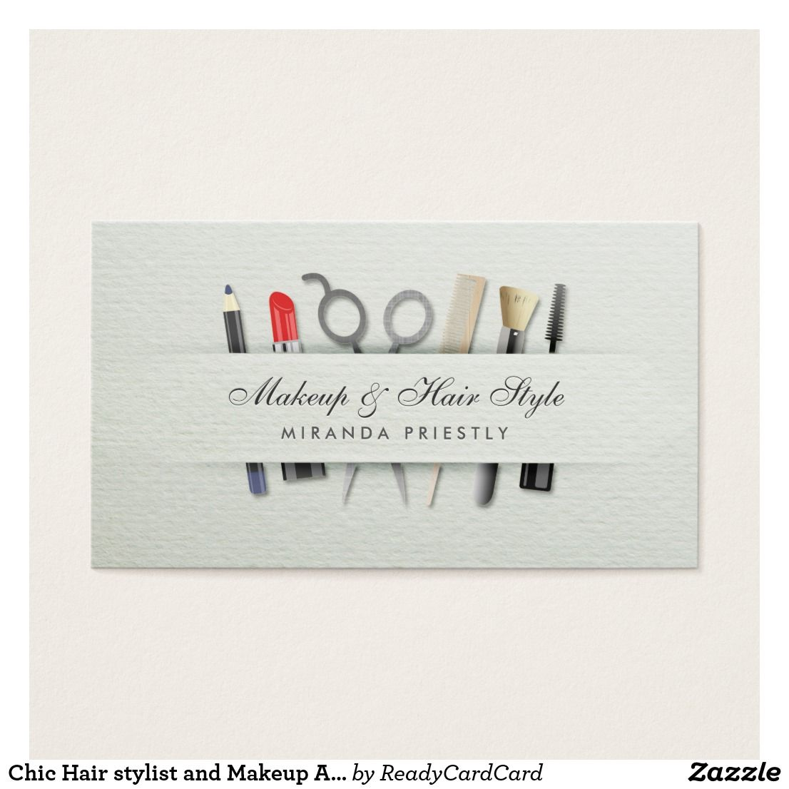 Chic Hair stylist and Makeup Artist Paper Texture Business Cards ...