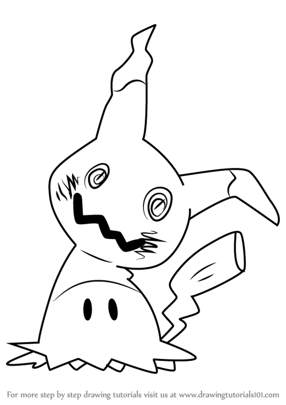 Learn How To Draw Mimikyu From Pokemon Sun And Moon