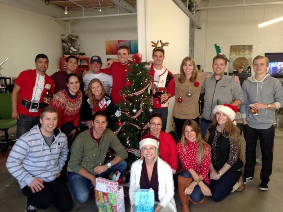 Secret Santa Ugly Christmas Sweater Party At The Organikseo Office