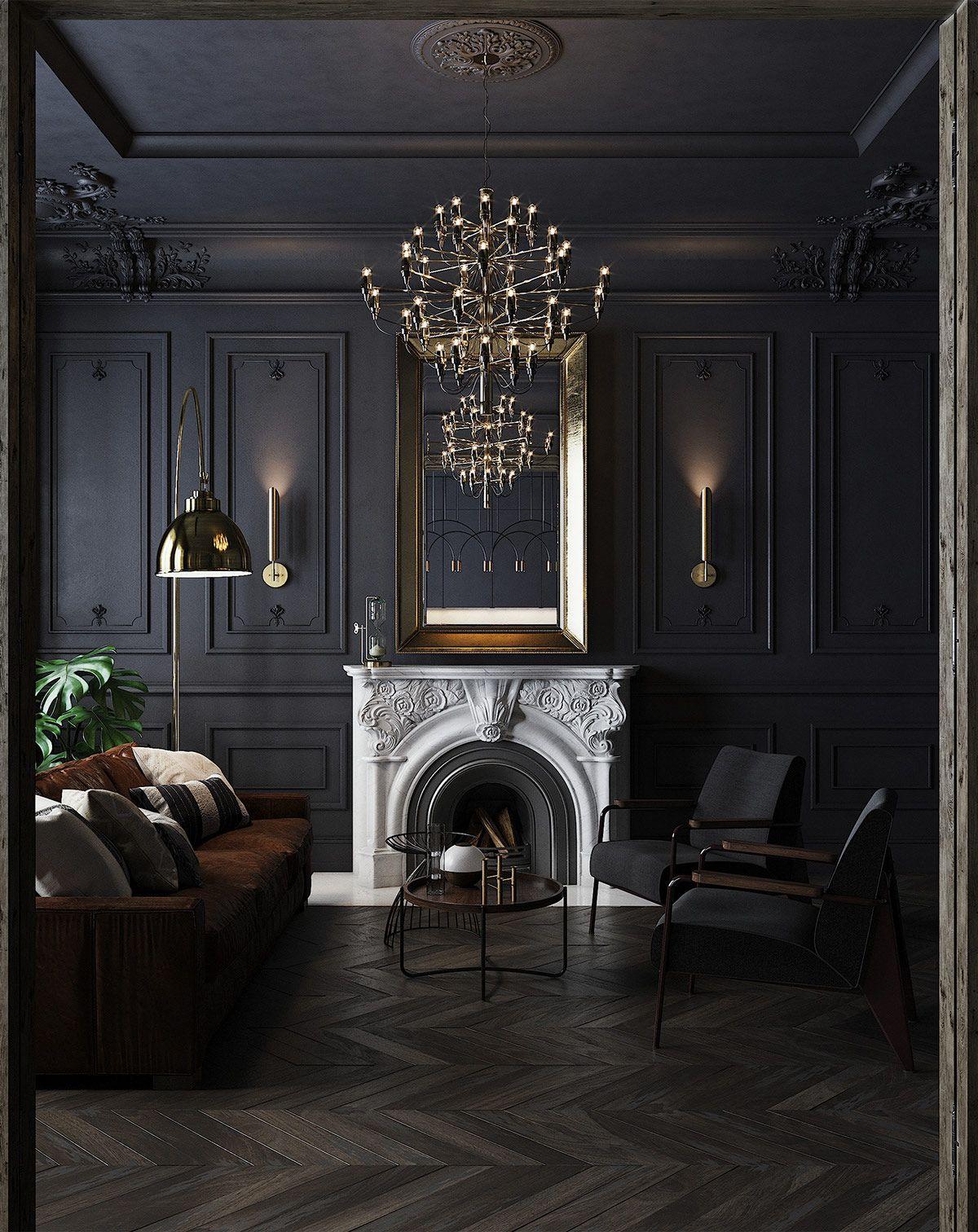 A Duo Of Deliciously Dark Luxury Interiors