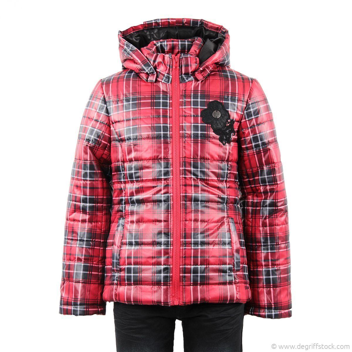 6eb045f8a0c7 Doudoune écossaise rouge fille DDP - Dégriff Stock Voilà LA doudoune  tendance pour cet hiver