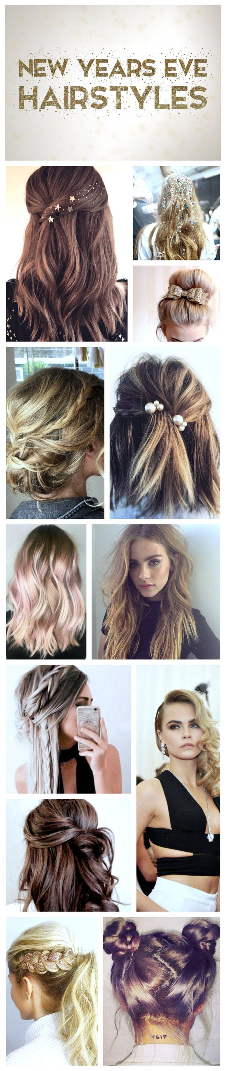 new years eve hairstyle ideas ✨ | beauty | new year's eve