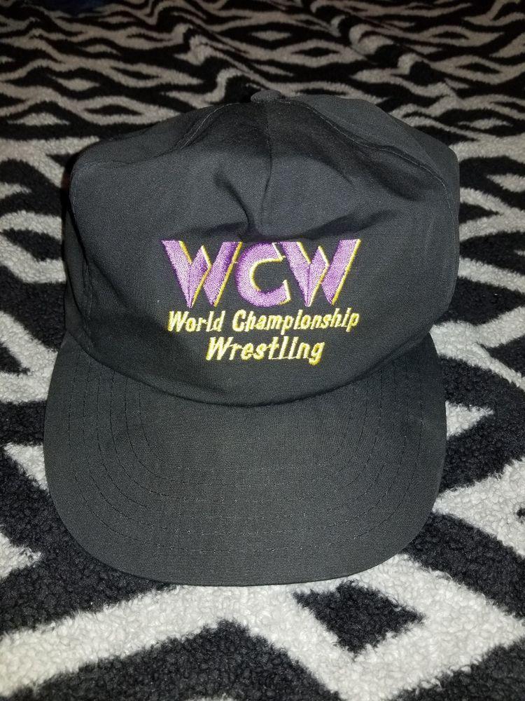 5abf906fb6228 Vintage 80 s WCW World Championship Wrestling Snapback Cap Hat WWF nwa wwe   Wrestling  WWE  WWF