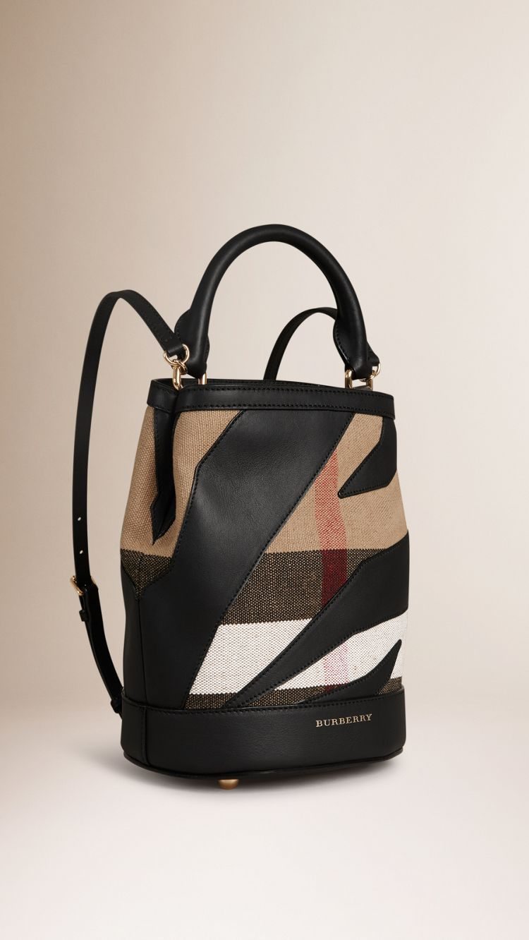 15c4bf1ff The Bucket Backpack in Canvas Check and Leather #Burberry | Bags ...