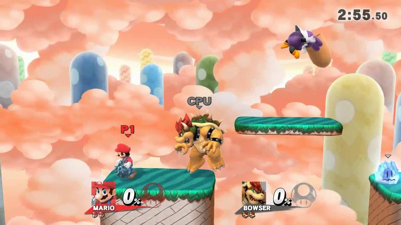 Mario vs Bowser round 2 SSB Wii U