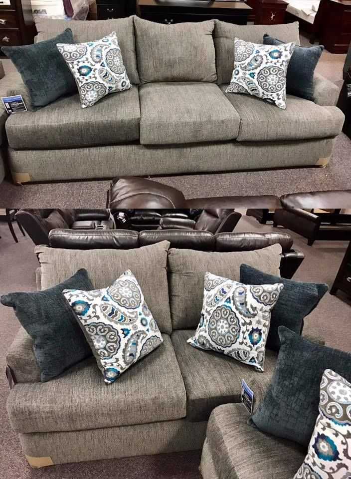 Simmons Beautyrest Couch And Love Seat