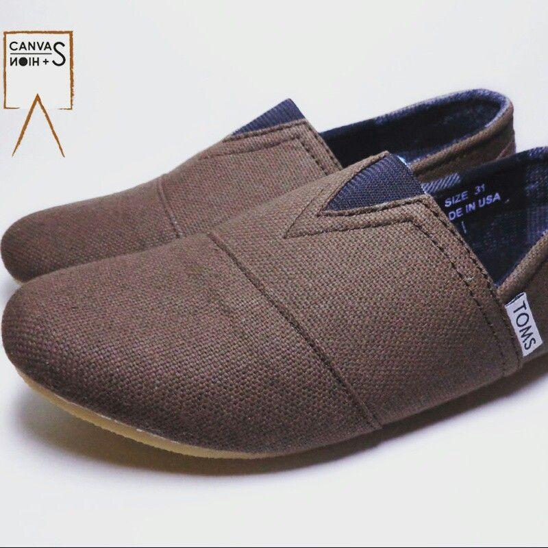 Sepatu Toms Anak Cowok Cewek Ukuran 31 36 Bahan Kanvas Simple