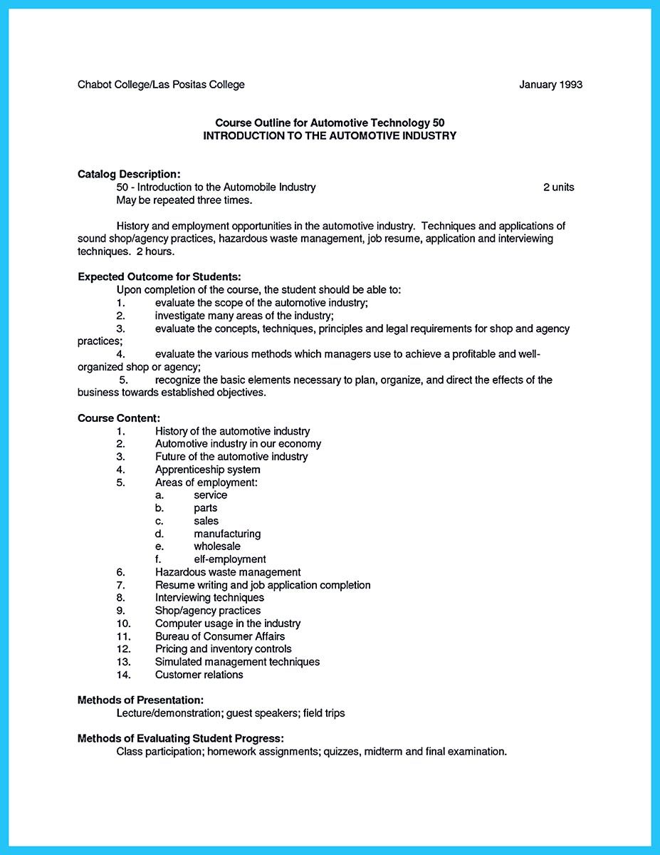 To write a solid automotive resume requires you some crit… | Resume ...