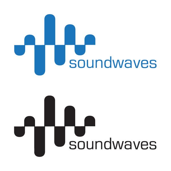 soundwaves logo design concept on behance | grafic_ logo science