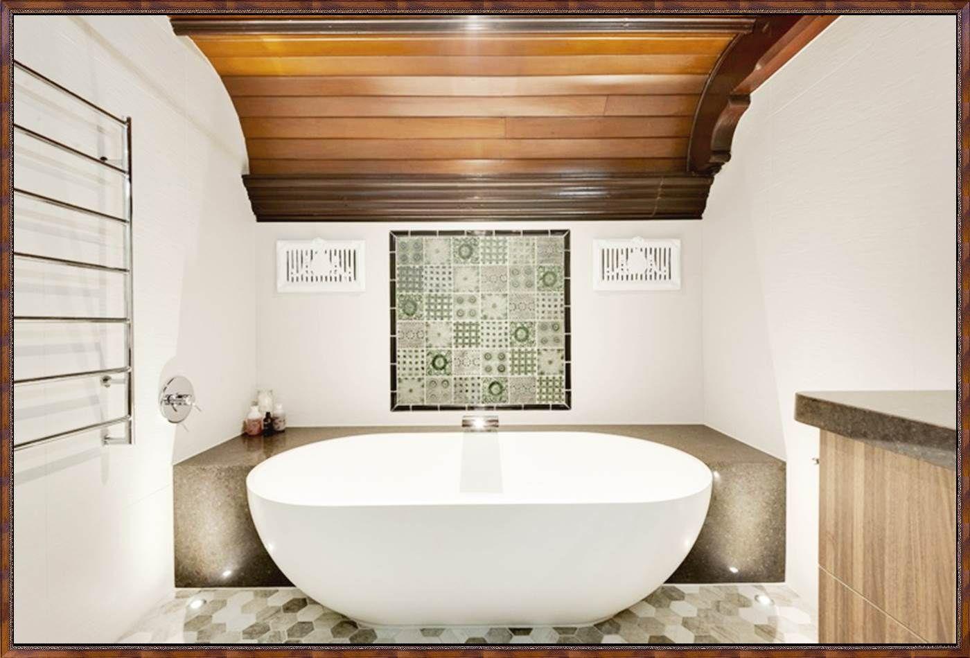 Freistehende Badewanne Halb Einbauen Jpg 1400 950 Badrenovierung Kleines Bad Renovierungen Badgestaltung