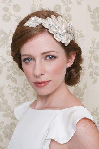 Emmy London Vintage Rose Embellished Hair Band and Belle & Bunty Petal Dress
