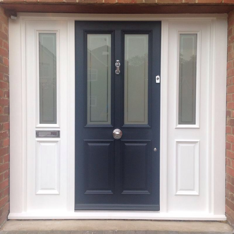 Victorian 4 Panel Front Door Farrow And Ball All White Railings Todd Doors