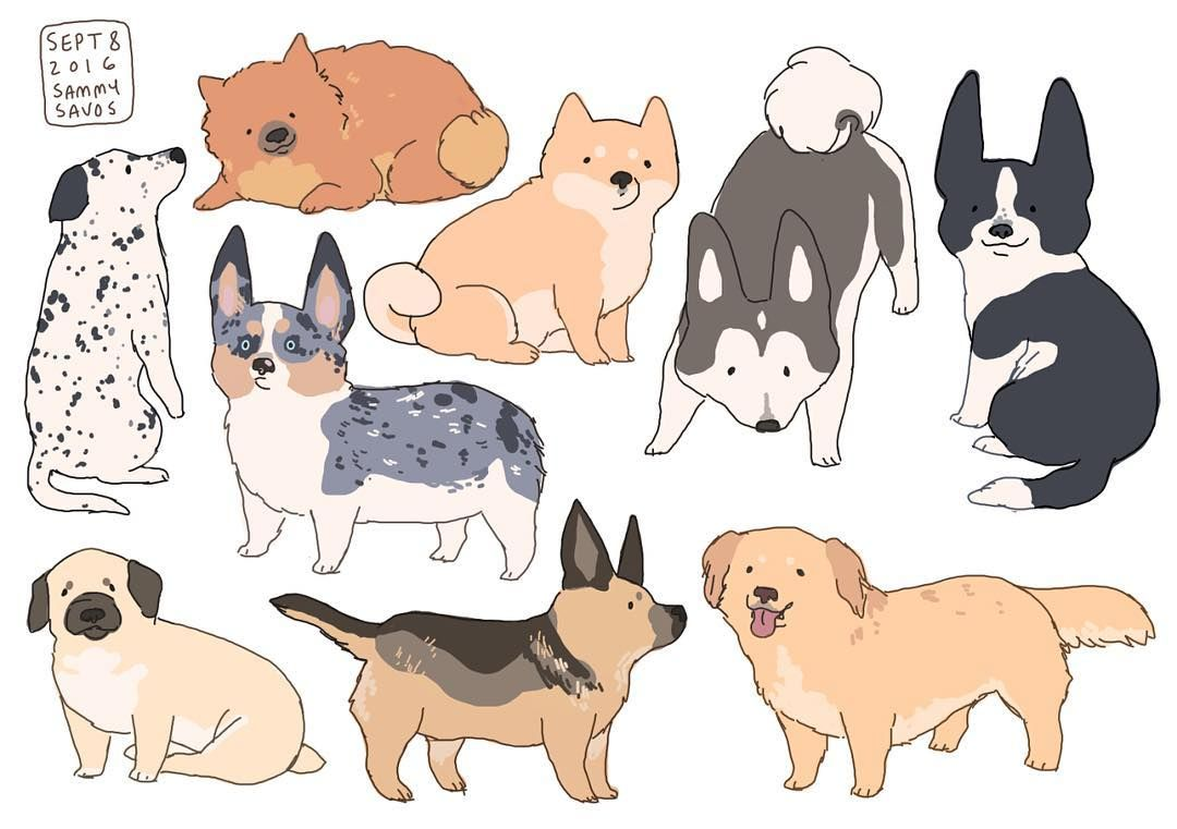 Hamotzi Art Dogs Illustrations Stickers Illustration Art