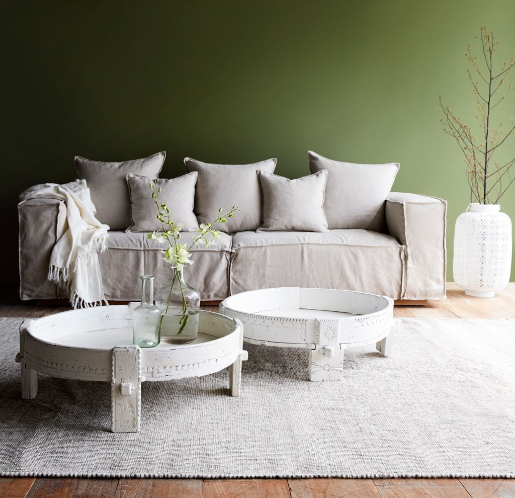 Nomad India, White corn grinder as coffee table. #ideas #interior ...