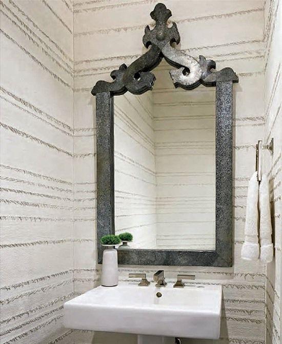 Putz Ideen Mediterrane Wände Metall Effekt-Bordüre Ideen rund - putz im badezimmer