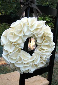 Felt wreath.