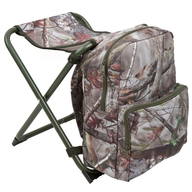 Solognac hunting backpack chair camouflage brown