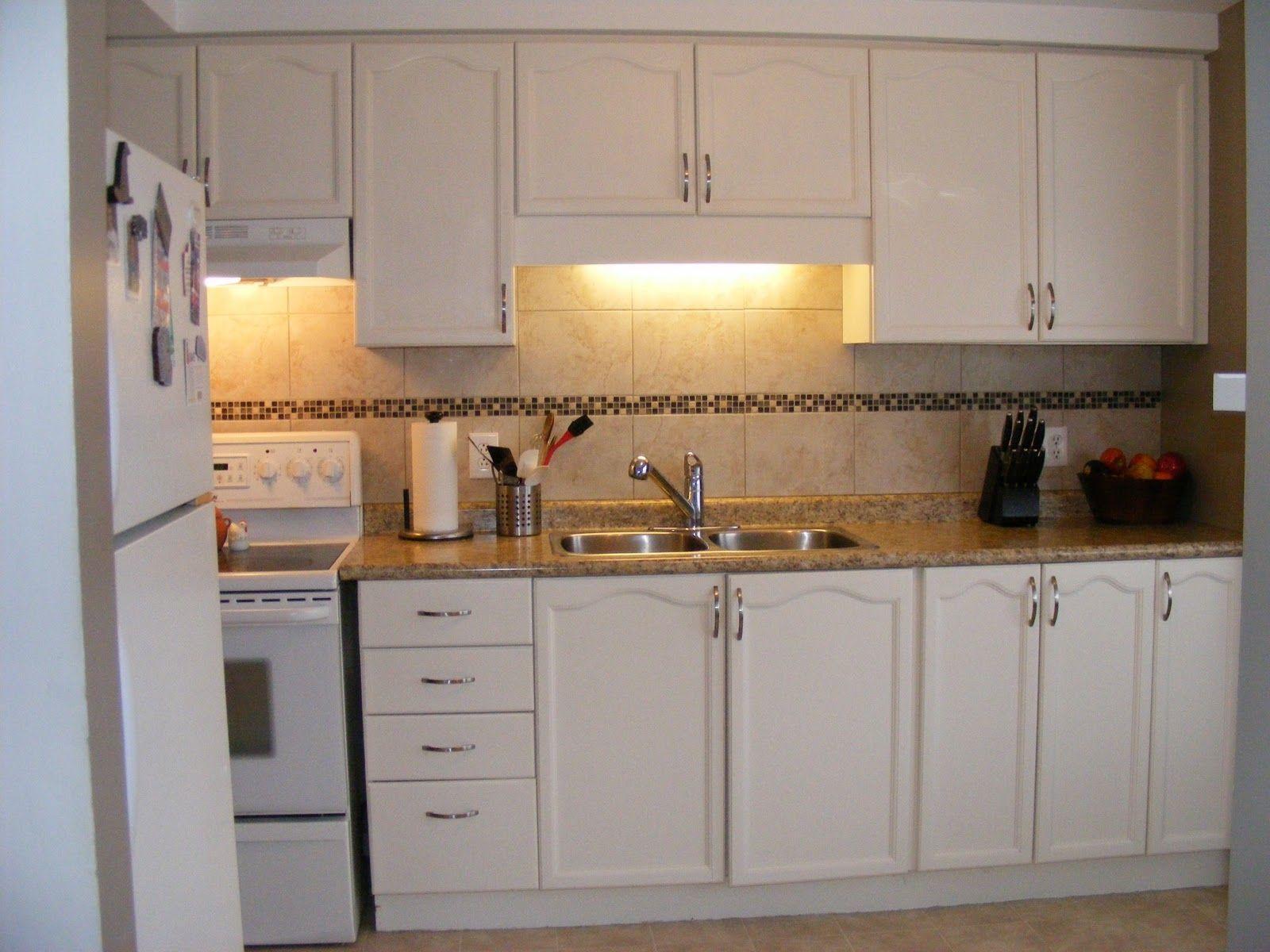 White Plastic Laminate Kitchen Cabinets