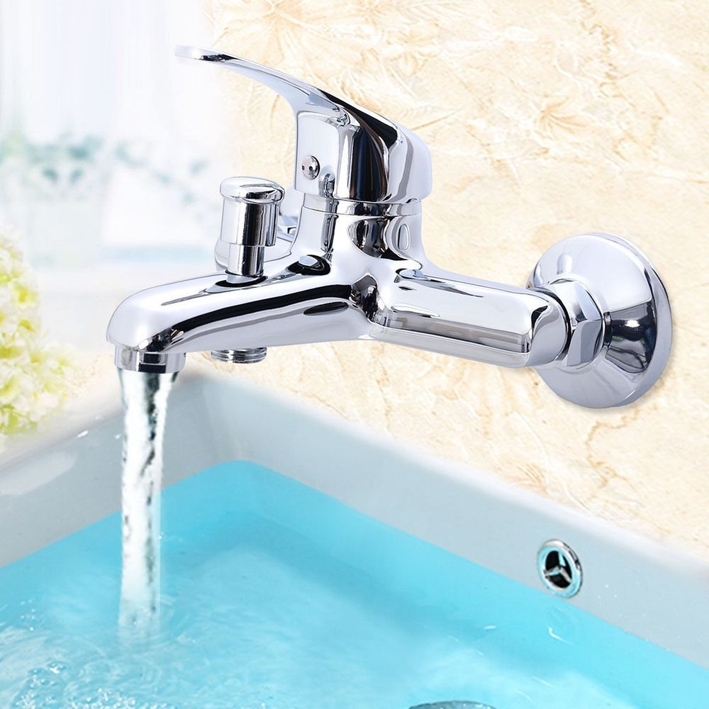 Chrome (Grey) Kitchen Bathroom Wash Basin Faucet Hot/Cold Mixer ...