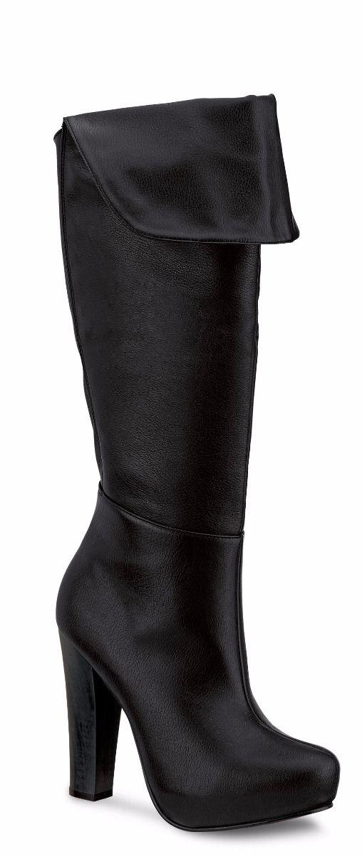 eb14504ee oferta botas largas andrea plataforma oculta color negro