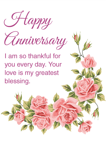 I Am Thankful For You  Happy Anniversary Card For The Special