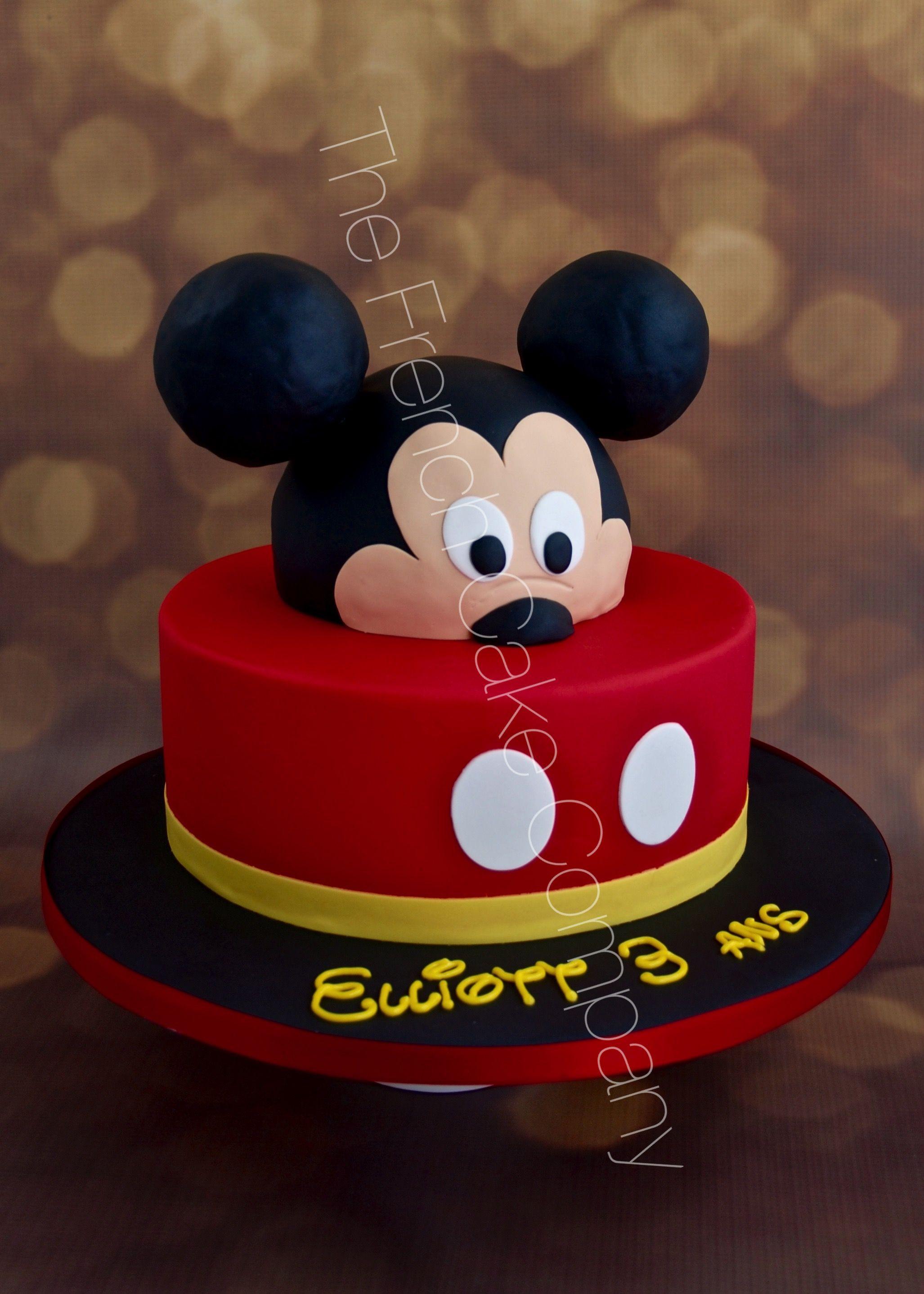 Bekannt Gâteau d'anniversaire Mickey Cake Design Belgique | Gâteaux De  KK47