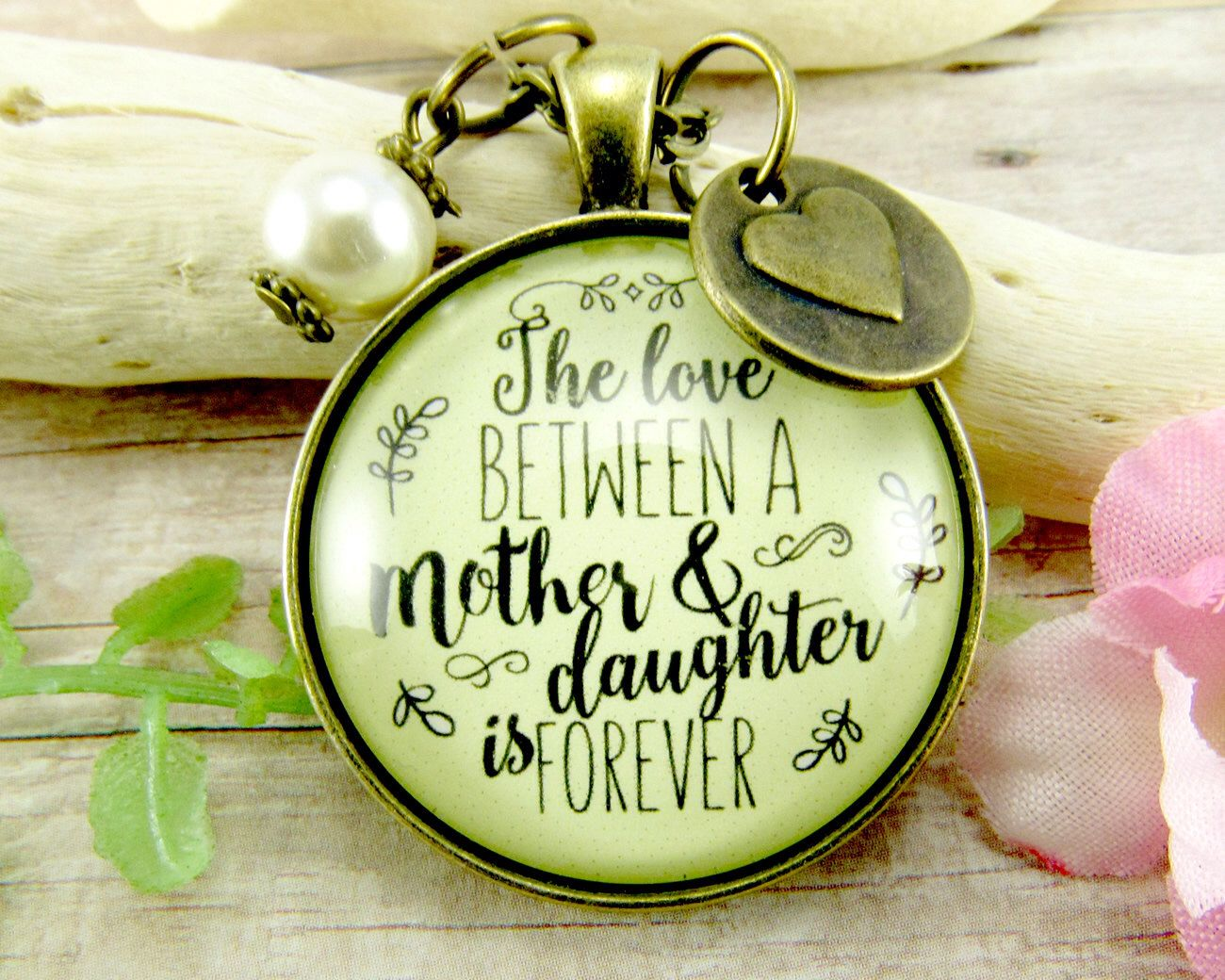 Mom daughter necklace the love between a mother daughter