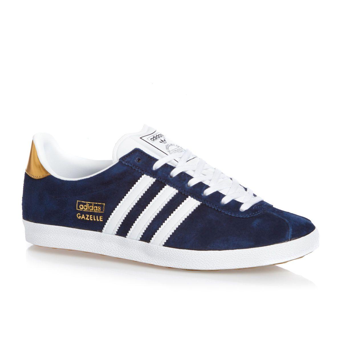 adidas Originals Gazelle OG Tennis Homme Noir/Blanc/Or kTS3Z2K