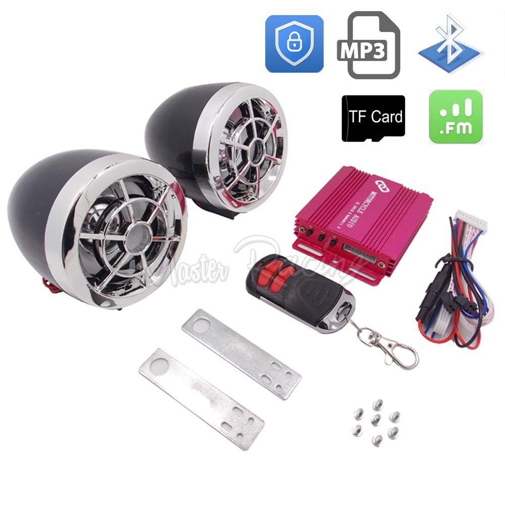 Motorrad Audio Lautsprecher bluetooth Sound System Alarm MP3 Player FM Radio