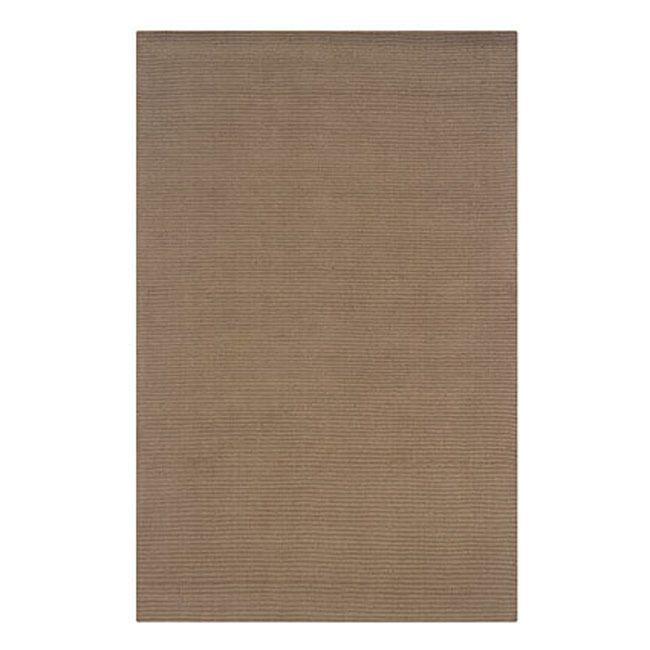 Linon Classic Smoke Beige Area Rug (3'6 x 5'6) (Classic Smoke Beige Area Rug (3.6 x 5.6)), Size 4' x 6' (Wool, Solid)